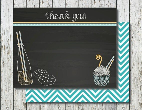 Thank You For Baking: Cooking Party Thank You Card Kids Baking Birthday Set