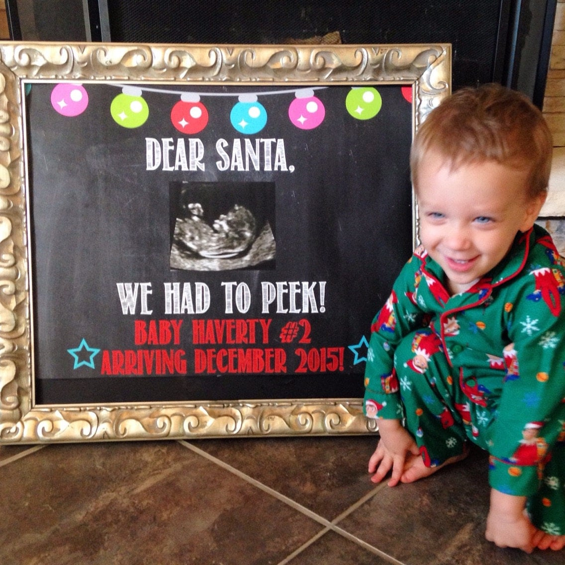 December Baby Christmas Pregnancy Announcement Expecting