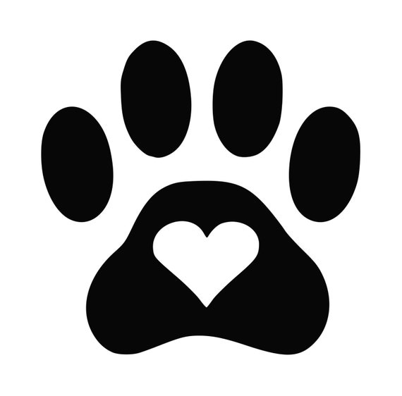 Items Similar To Dog Paw Heart Decal On Etsy