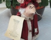 Mrs. Clause - The Christmas Mouse - Holiday Decoration