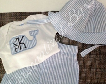 Personalized  Whale 3 Piece Outfit