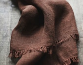 Linen Scarf / Carnaby Tan Colour / Unisex Scarf