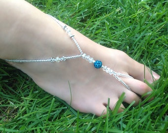 Wedding/Beach Barefoot Sandals / Foot Jewelry ~ Style: Caicos