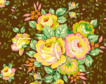 1 YARD Heather Bailey - Pop Garden - Rose Bouquet