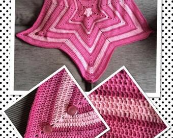 5 point star crochet blanket