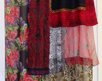 Boho Gypsy Scarf Curtain/Stunning one of a kind
