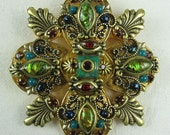 Vintage Michal Golan Maltese Cross Brooch