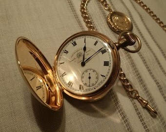 Pocket watch & chain with locket fob