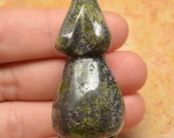 Natural Dragon Blood Jasper goddess pendant bead  (#J841)