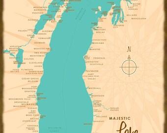 Lake Michigan, MI - Wood or Metal Sign