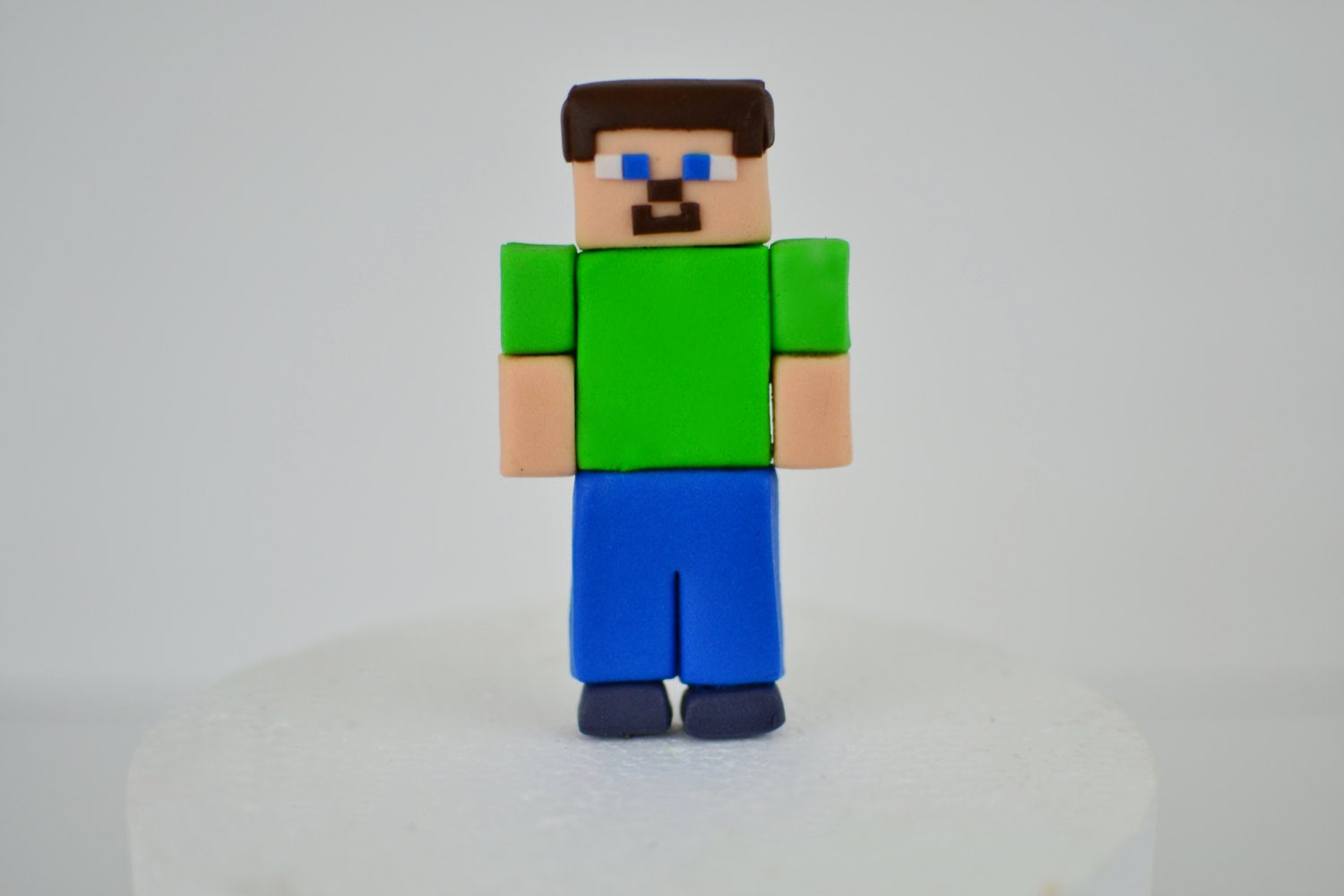 Cake Toppers Minecraft Uk : Edible Minecraft Inspired Steve Cake Topper