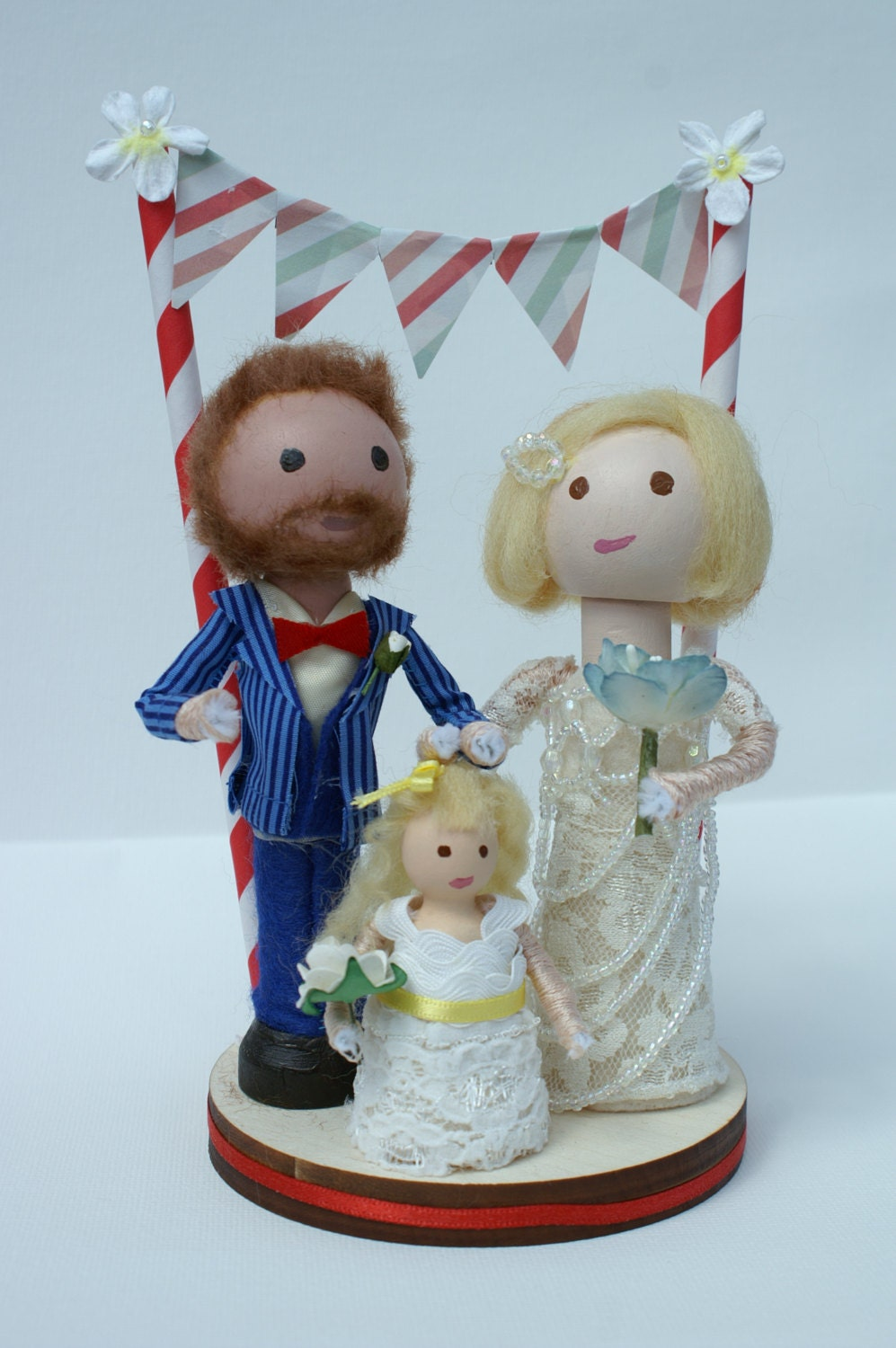 peg doll wedding cake toppers uk handmade customized and groom wooden peg doll 18184