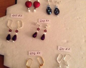 Fun Earrings   6.99 to 9.99
