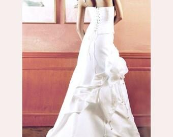 wedding dress-custom wedding dress-casual wedding dress-knotted clasp-fashion wedding gown-flower with lace-romantic wedding-bridal gown