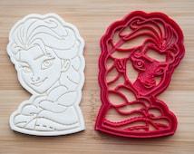 Elsa cookie cutter.  Princess Elsa Disney Frozen Cookie Cupcake Topper Fondant Ginger cookie cutter