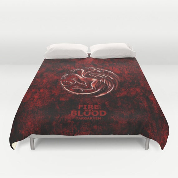 items similar to inspir par game of thrones special edition housse de couette queen et king. Black Bedroom Furniture Sets. Home Design Ideas