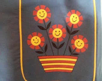Darling Vintage Blue House Dress/Sun Dress.  Sunshine smiles.