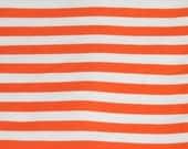 "Knit Really Orange Stripes 1/2"" Fabric 1/2 yard"