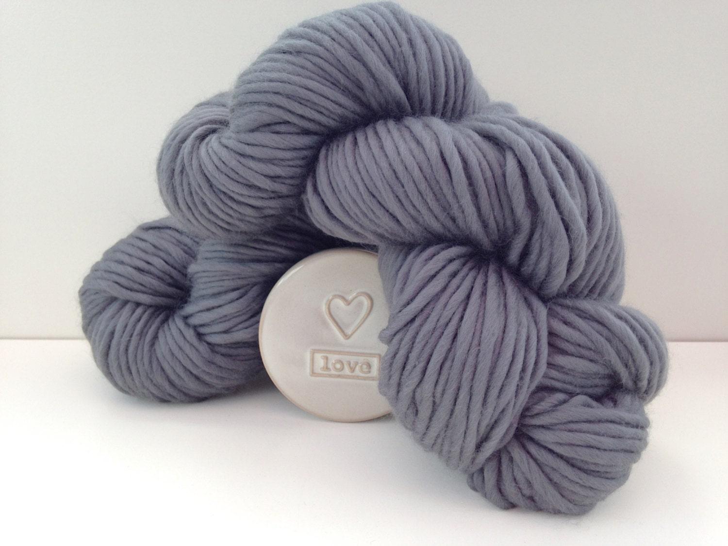 Grey Super chunky merino yarn Super bulky by WoolCoutureCompany