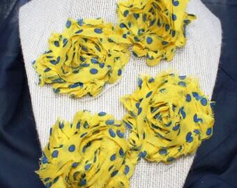 Yello w/ Blue Polka Dots Headband/Baby/Infant