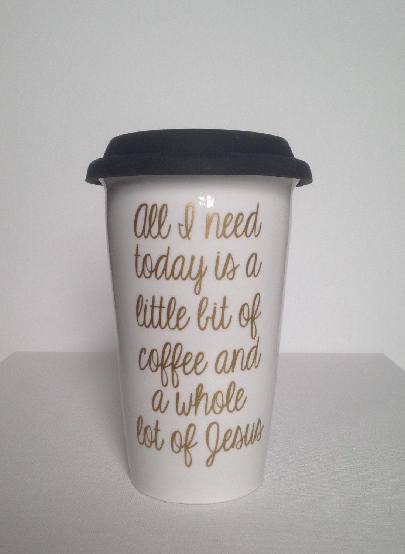Ceramic Coffee Travel Mug Jesus Coffee Traveler Mug