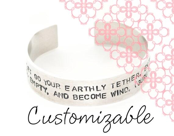 Handstamped Bracelet - Custom - Cuff Bracelet - Aluminum Bracelet - Quote Bracelet