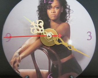 Brand New Rihanna Singer Song Writer Music Artist CD Clock Nice!
