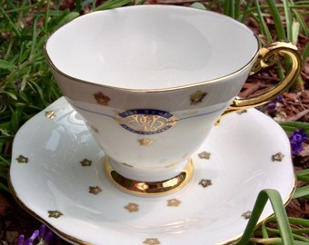 1940s E B Foley For Home and Country Teacup and Saucer