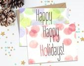 Happy Holidays, Funny Greeting Cards, Holiday Card Set, Christmas Cards, Holiday Cards, Handmade Cards, Holiday Stationery