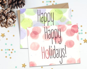 Happy Holidays, Funny Greeting Cards, Holiday Card Set, Christmas Cards, Holiday Cards, Handmade Cards, Holiday Stationery