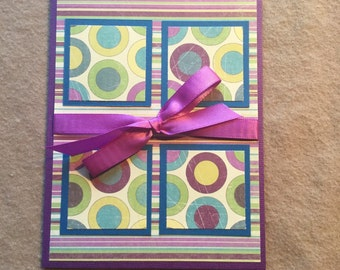 Purple Square Card