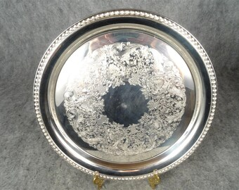 International Silver Co. Round Serving Tray