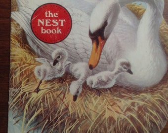 The Nest Book, Vintage Golden Shape Book, by Kathleen Daly, illustrated by Jan Pfloog