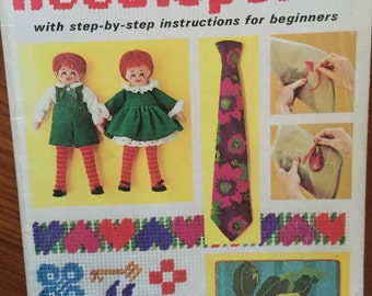 McCall's Needlepoint with step by step insructions for beginners 1971.