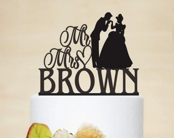 disney wedding cake topper cinderella cake topper princess and prince cake topper mr