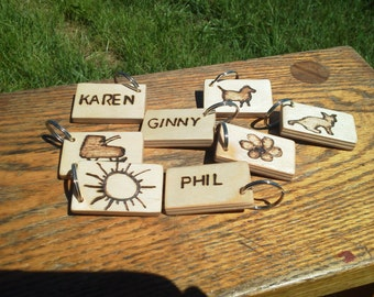 Hand-Made Wooden Key Chain