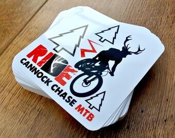 Cannock Chase Mountain Biking Sticker