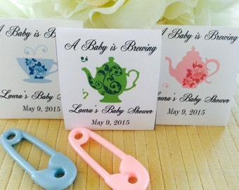 Personalized Tea Packets, baby shower favors, tea shower favors, baby shower tea favors, tea party favors, tea party, boy baby shower,