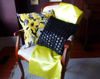 Lemon Yellow Table Runner
