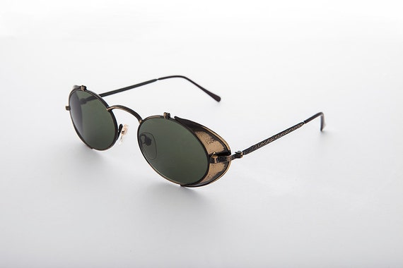 cc0ec59be6c 80  39 s Sunglasses With Leather Side Shields