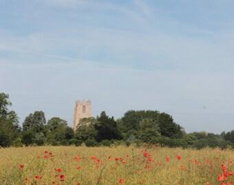 Norfolk Poppies -A6 notecard