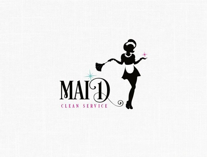 Maid Logo Design Clean Service Logo French Maid Logo Clean