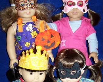 18 inch Doll Halloween Mask and Tote Embroidery Machine Designs for the 5x7 hoop