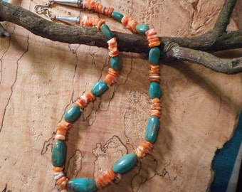 Turquoise, Spiny Oyster shell, Navajo Necklace