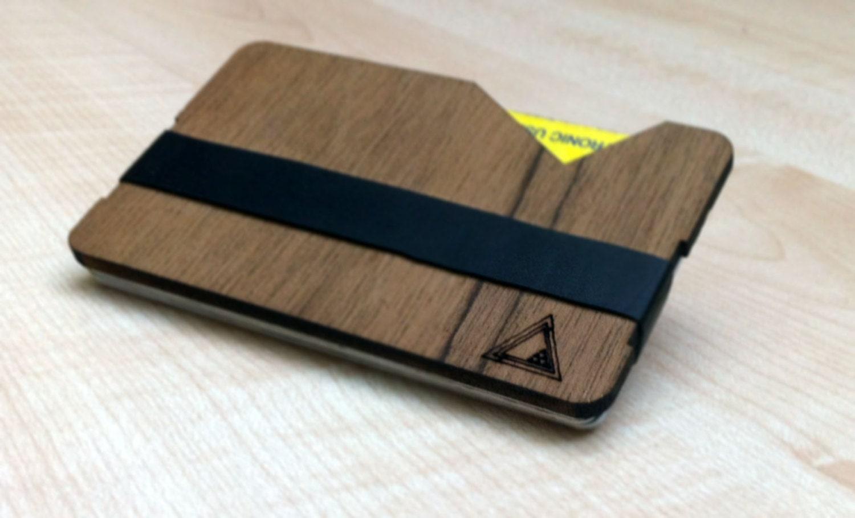 Assez Portafoglio in legno portatessere design moderno slim SU57