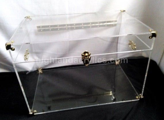 acrylic trunk lucite chest clear coffee table by