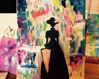 Gorgeous lady silhouette painting LOOK VERY PRETTY