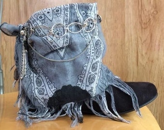 RESERVED - Do Not Purchase  Upcycled Boots boho bohemian gypsy