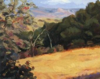"Postcard ""Sunol Ridge"" reproduction from original oil painting"