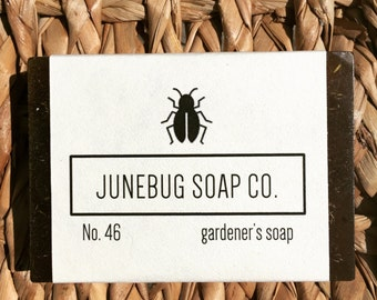 Gardener's Bar Soap - All Natural Soap, Garden Soap, Herbal Soap, Handmade Soap, Bar Soap, Natural Soap, Homemade Soap, Loofah Soap